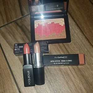 NARS Fireclay + MAC & Smashbox Lipsticks